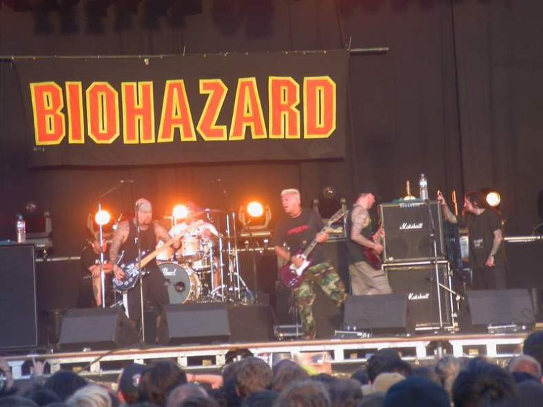 Biohazard at the Dour Festival, 2003.