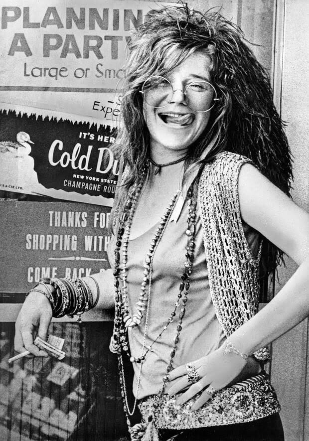 A vivid personal iconography... Janis Joplin. Photograph: Alamy Stock Photo